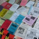 Books at strike close up