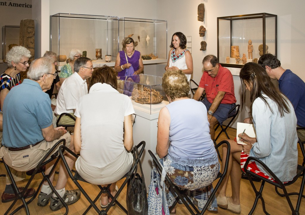 Talk that examines the Gallery's collection of art of the ancient Americas. Focusing on a model of the ballgame (ca. 100 b.c.-a.d. 250) and a reconstruction of the Bonampak murals (a.d. 790-92), Reynolds-Kaye contextualizes Precolumbian art and society.